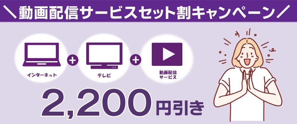 動画配信サービスセット割キャンペーン2,200円引き